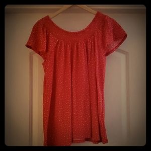 Style&Co - Red and White stretchy shirt XL